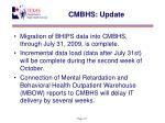 cmbhs update