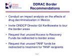 ddrac border recommendations1