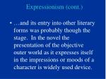expressionism cont
