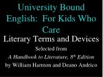 university bound english for kids who care