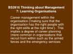 bs3916 thinking about management 7 learning organisations22
