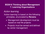 bs3916 thinking about management 7 learning organisations26