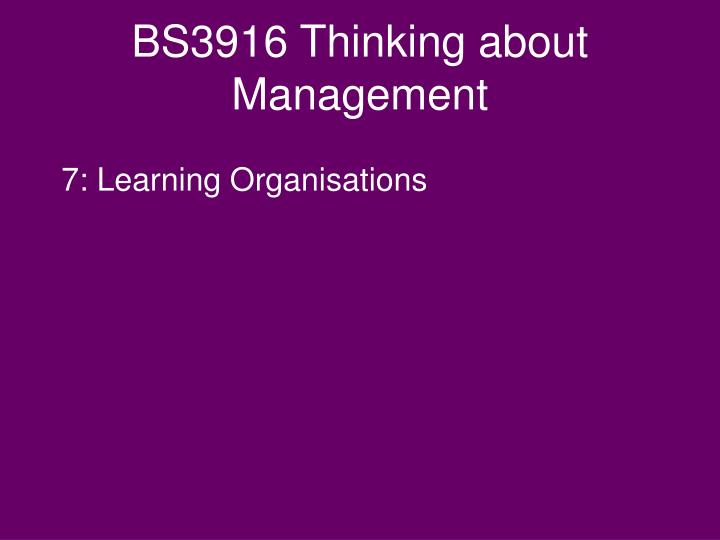 bs3916 thinking about management n.