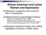 african american and latino women and depression