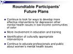 roundtable participants future plans