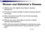 women and alzheimer s disease