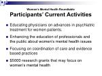 women s mental health roundtable participants current activities2