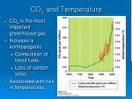 co 2 and temperature