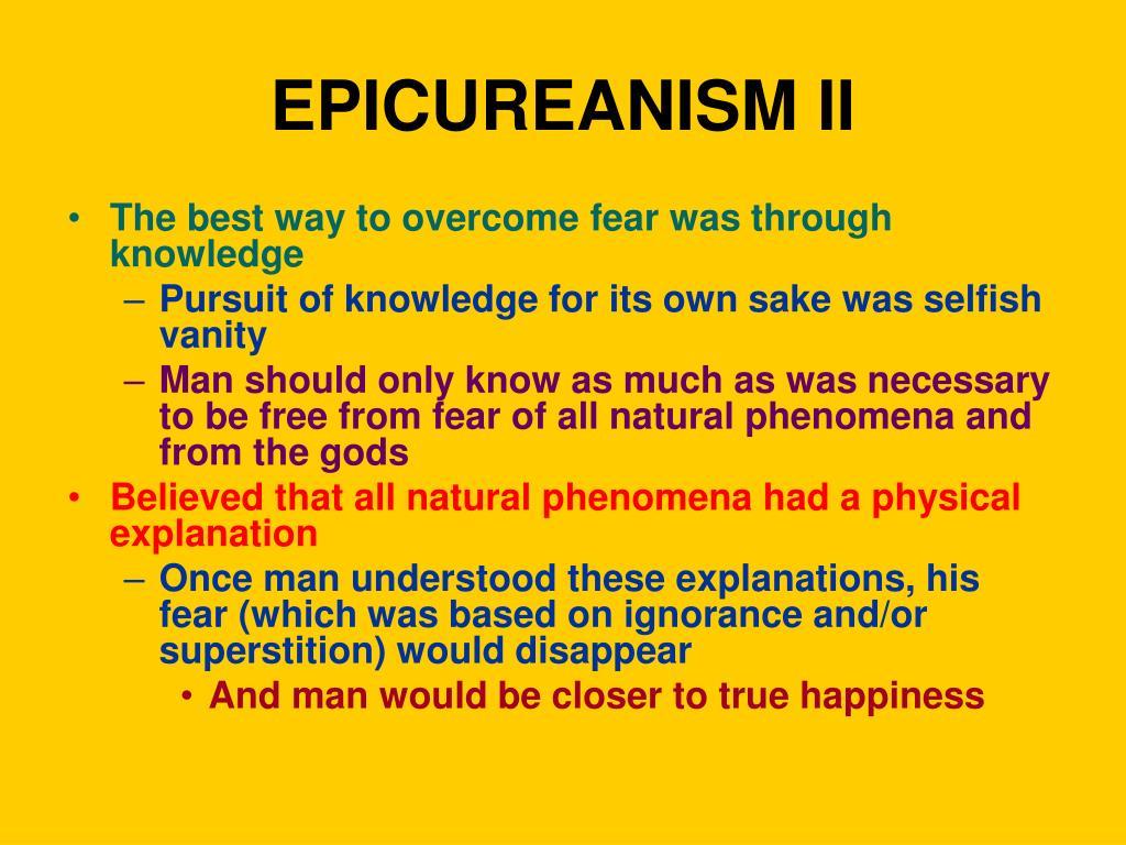 EPICUREANISM II