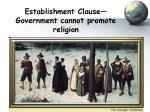establishment clause government cannot promote religion