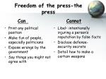 freedom of the press the press