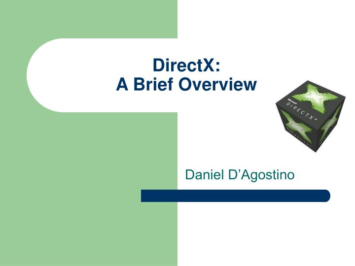 directx a brief overview n.
