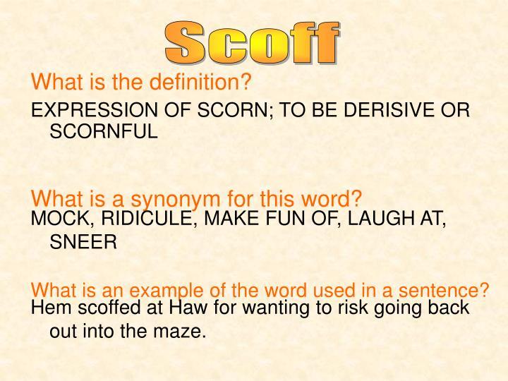 Mocking laugh synonym