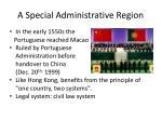 a special administrative region