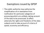 exemptions issued by gpdp