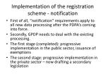 implementation of the registration scheme notification