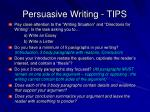 persuasive writing tips