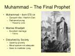 muhammad the final prophet