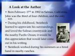 a look at the author