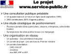 le projet www service public fr