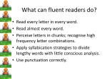 what can fluent readers do