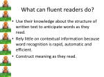 what can fluent readers do2