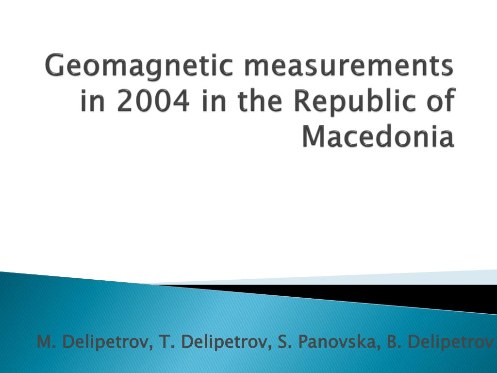 geomagnetic measurements in 2004 in the republic of macedonia l.