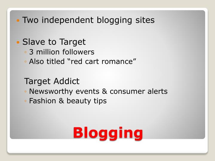 Two independent blogging sites