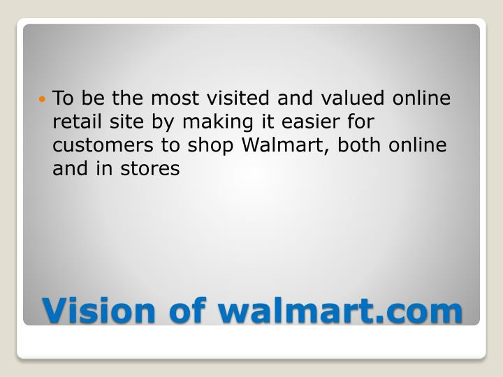 To be the most visited and valued online retail site by making it easier for customers to shop