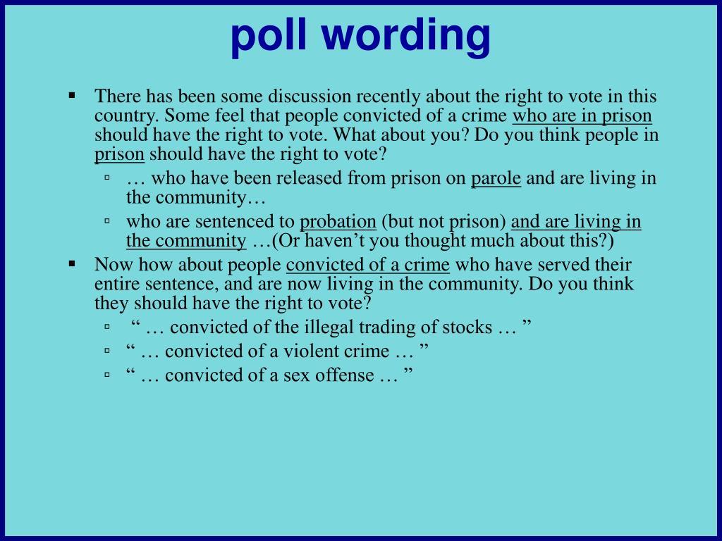 poll wording