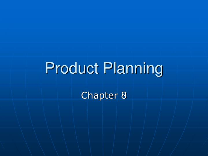 product planning n.