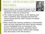mayo human relations theories