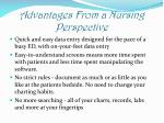 advantages from a nursing perspective