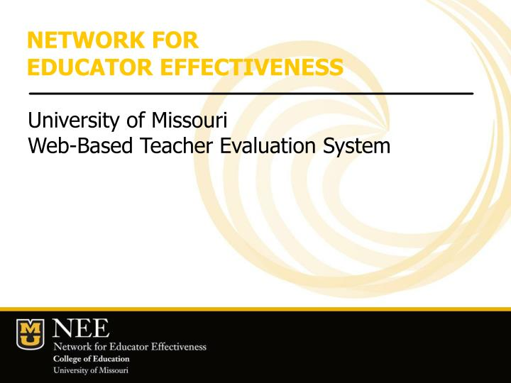 network for educator effectiveness n.