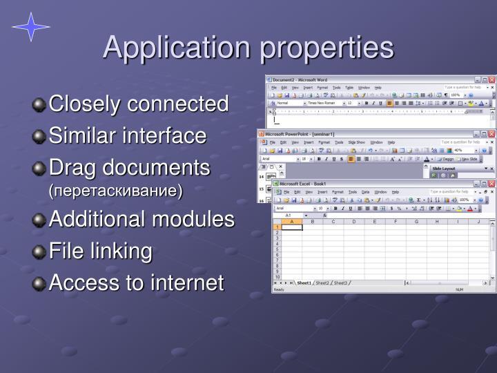 Application properties