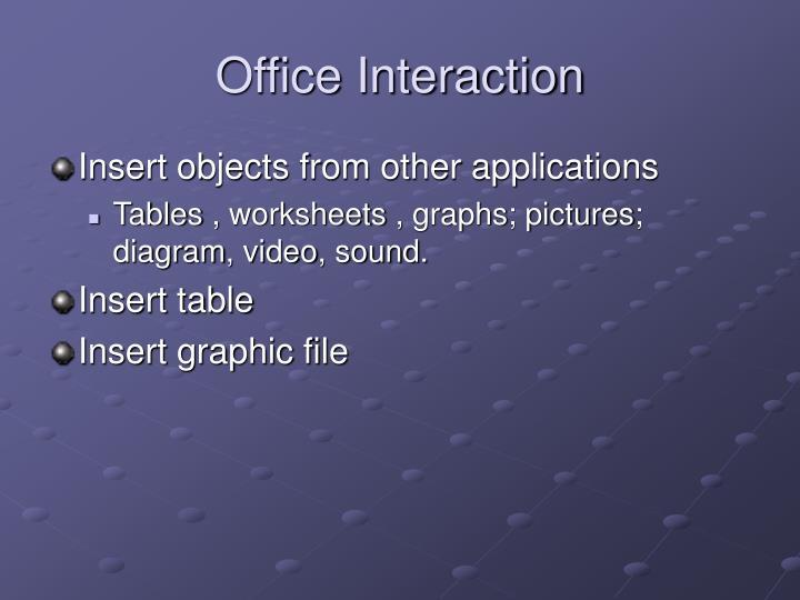 Office Interaction