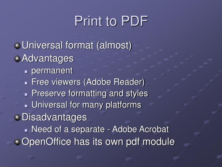 Print to