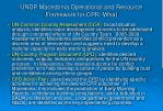 undp macedonia operational and resource framework for cpr what
