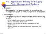4b application privacy in e supply chain management systems