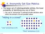 a anonymity set size metrics