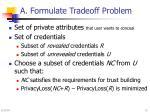 a formulate tradeoff problem