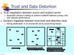 trust and data distortion