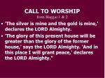 call to worship from haggai 1 23