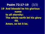 psalm 72 17 19 3 3