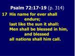 psalm 72 17 19 p 314