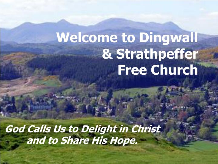 welcome to dingwall strathpeffer free church n.