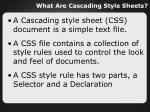 what are cascading style sheets