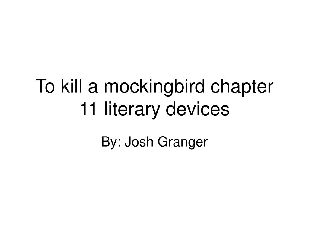 literary devices used in to kill a mockingbird