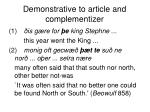 demonstrative to article and complementizer