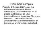 even more complex